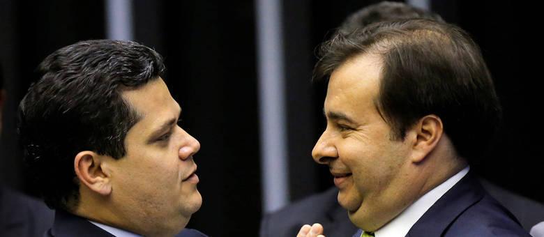 Presidentes do Senado, Davi Alcolumbre, e da Câmara, Rodrigo Maia