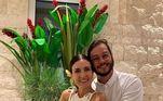Fátima Bernardes e Túlio Gadelha também iniciaram o Ano-Novo juntos