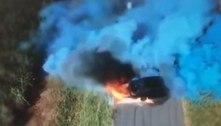 Austrália: festa de revelação de gênero acaba com carro em chamas