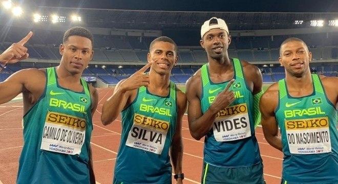 Equipe campeã mundial no revezamento 4x100m