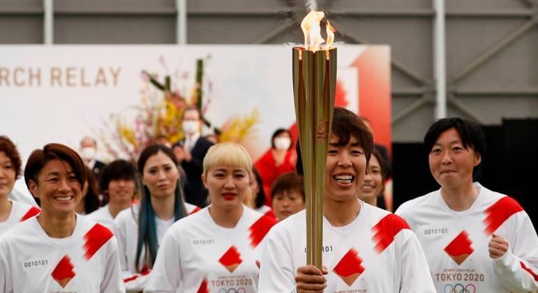 Revezamento da tocha olímpica deve chegar à capital Tóquio no dia 9 de julho