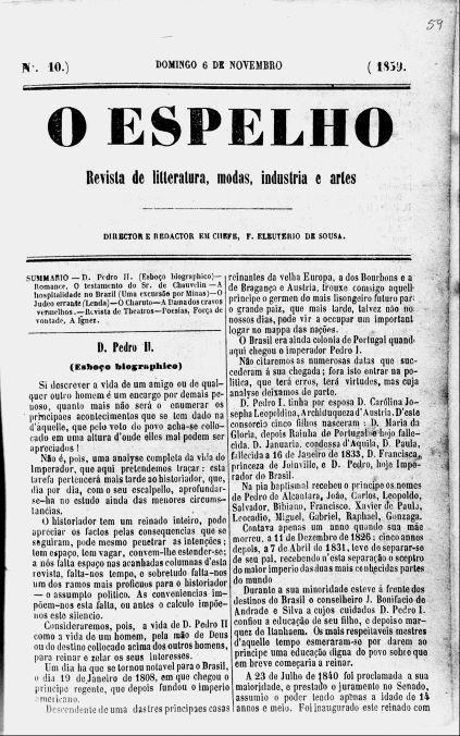 Início da biografia de Dom Pedro II