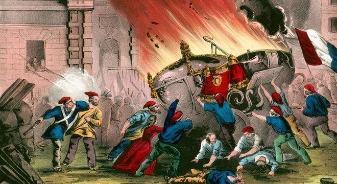 Durante a Revolução Francesa tentou-se modificar o calendário moderno Um calendário sem referências religiosas