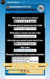 Riascos rebate torcedor do Cruzeiro no Instagram