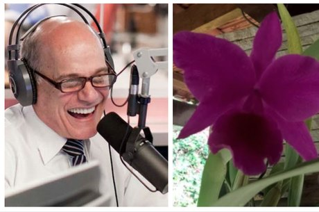Boechat e a orquídea batizado em sua homenagem