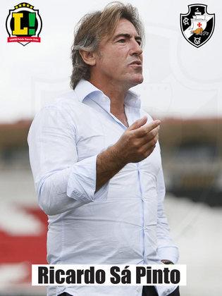 Ricardo Sá Pinto – 7,0  A equipe fez uma grande partida. Pressionou o adversário e se comportou bem na defesa. Jogo seguro e controlado do Vasco.