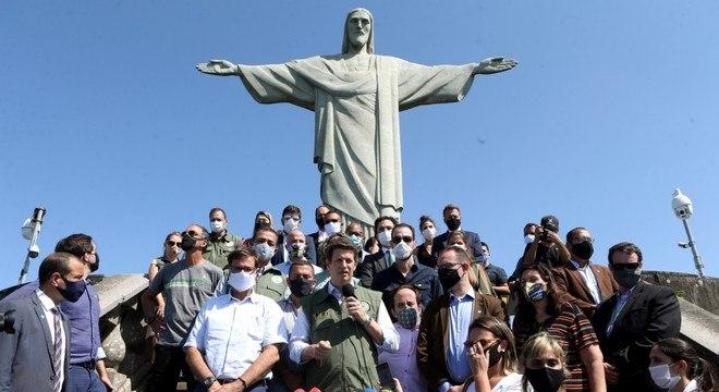 Ricardo Salles participa de reabertura do Cristo Redentor