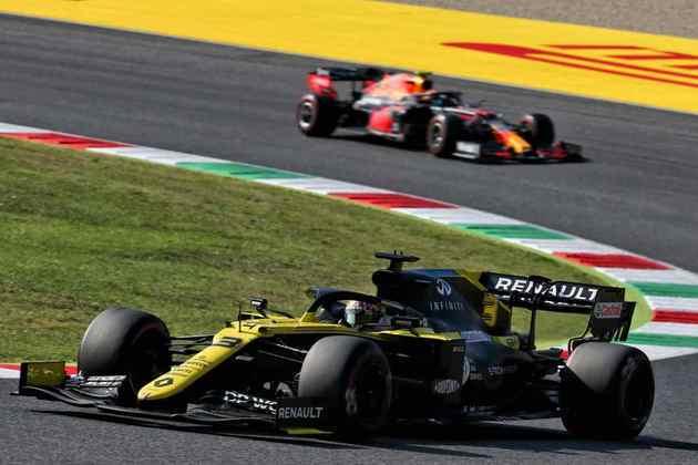 Ricciardo foi superado por Albon na briga pelo último lugar no pódio