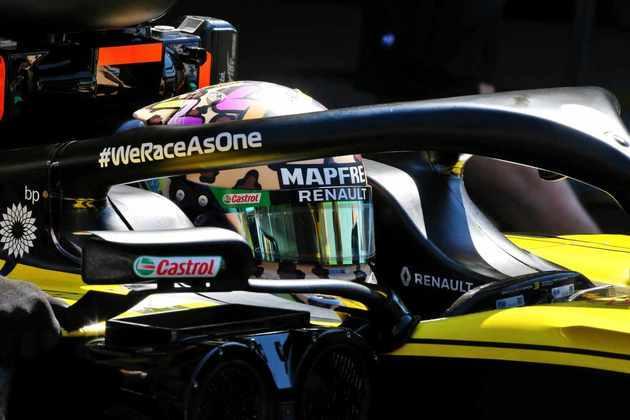 Ricciardo mais uma vez superou o companheiro de equipe no grid de largada