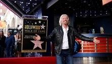 BilionárioRichard Branson ganha estrela na calçada da fama