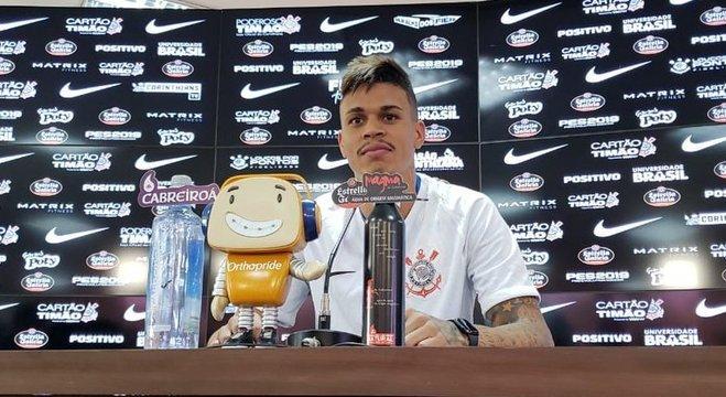 Jogador não esconde que o Corinthians é seu time do coração