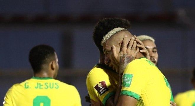 Richarlison fez o segundo gol do Brasil contra o Uruguai