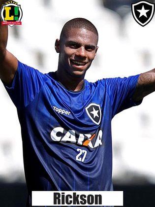 RICKSON -5,0 - Entrou no intervalo e não manteve o poderio ofensivo esperado para o Botafogo.