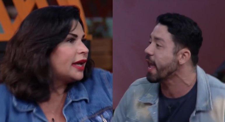 Rico Melquiades e Solange Gomes trocam xingamentos durante dinâmica