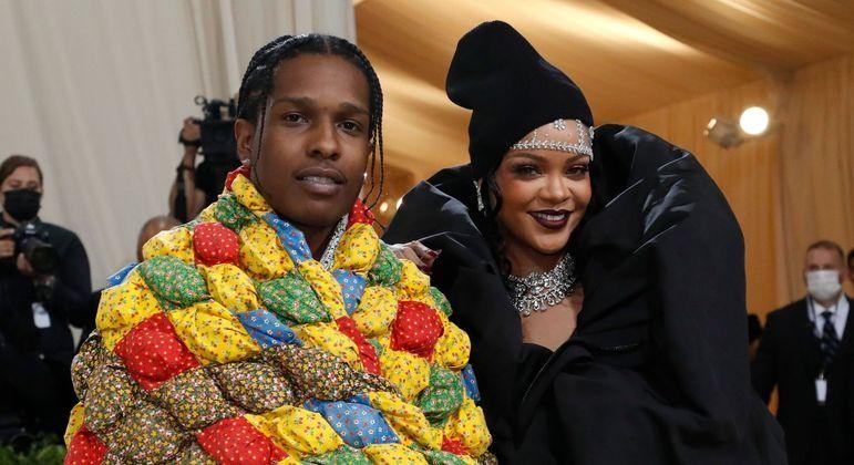 Rihanna e o namorado, ASAP Rock, no Met Gala 2021