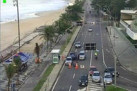Operação interditou Avenida Niemeyer  durante 40 minutos