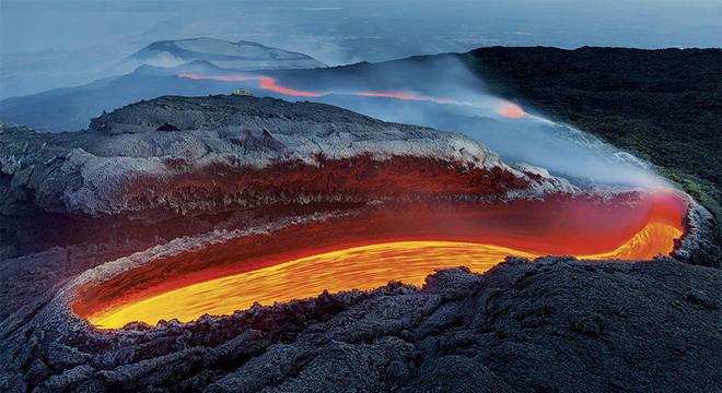 Rio de Fogo do Etna, de Luciano Gaudenzio, da Itália