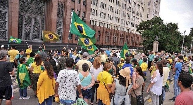 Rio de Janeiro também registrou ato de apoio ao presidente da República