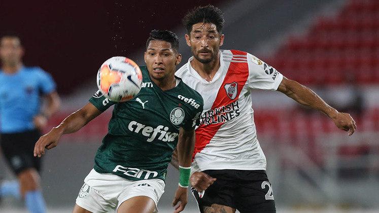 River Plate-ARG 0 x 3 Palmeiras – estádio Libertadores de América, em Buenos Aires (ARG) – 5/1/2021 – Semifinal (ida) – Gols: Rony, Luiz Adriano e Viña