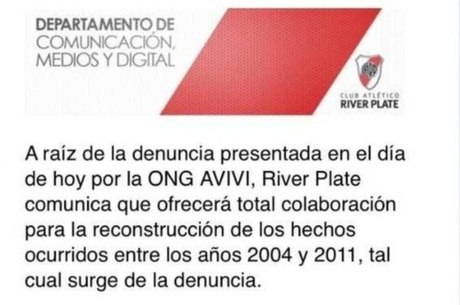 Comunicado oficial do River Plate