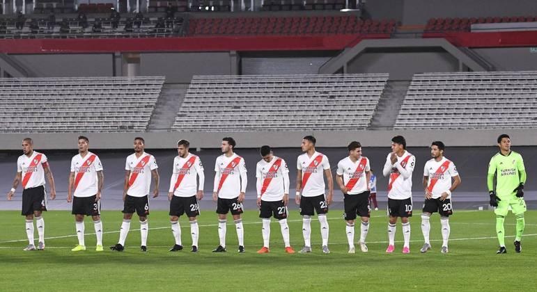 O time do River Plate que conseguiu se superar. Sem um reserva sequer