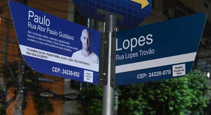 Ator Paulo Gustavo é homenageado com nome de rua em Niterói, onde nasceu