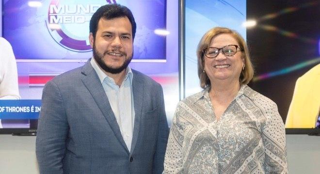 Vice-presidente do Grupo Diário e a presidente da RN, Alba da Costa
