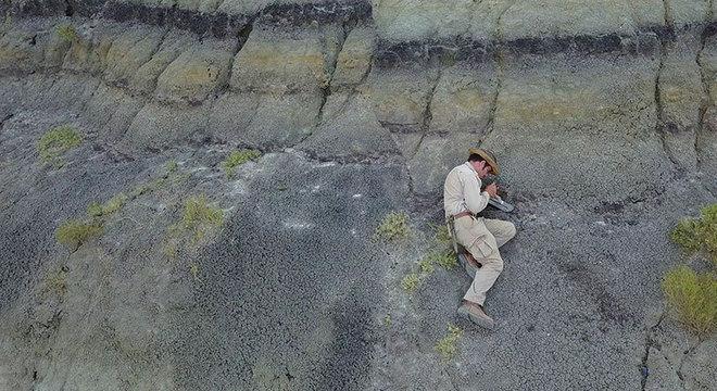 DePalma, da Universidade do Kansas, diz que local da escavação oferece incrível visão do que aconteceu após a queda do asteroide