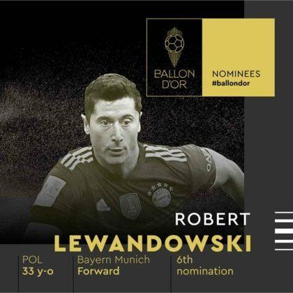 Robert Lewandowski (polonês) - atacante - Bayern de Munique