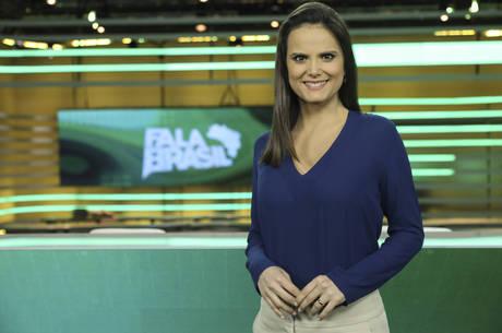 Roberta Piza comanda o Fala Brasil