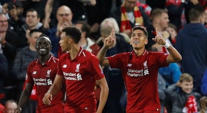 Firmino decidiu o jogo para o Liverpool, que estreou com vitória na Champions