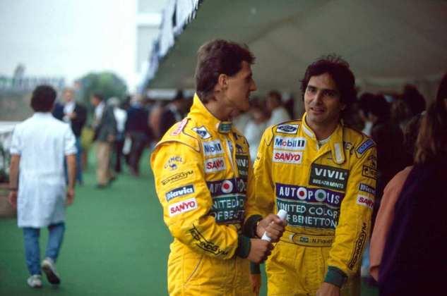 Roberto Pupo Moreno foi dispensado da Benetton durante a temporada de 1991 para a chegada do jovem Michael Schumacher.