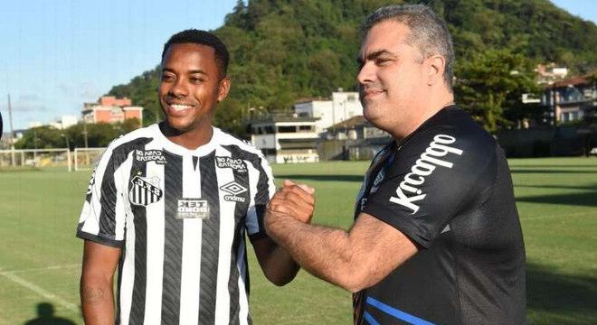 Robinho fez o Santos ir para as páginas policiais. E agora se omitir diante do caso Mariana