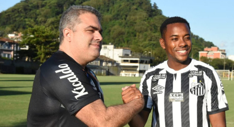 O ex-presidente, Orlando Rollo, defendia Robinho no Santos