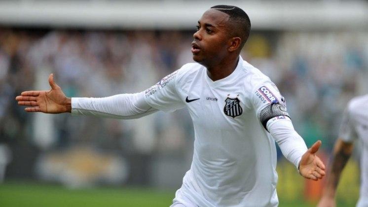 Robinho foi vice campeão com o Santos. O