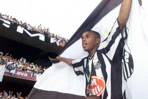 Robinho: o atacante das 'pedaladas' despontou no cenário nacional pelo Santos, na Copa São Paulo de 2002