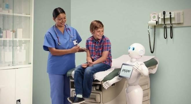 O robô humanoide Pepper é um dos escolhidos para o trabalho em hospitais