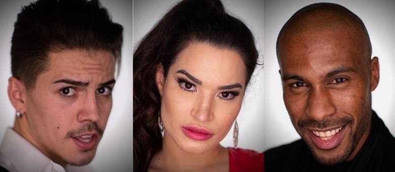Biel, Raissa e Rodrigo formam o trio da Roça