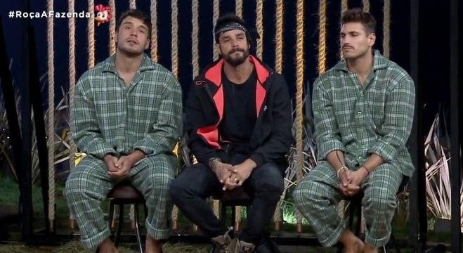 A oitava Roça da temporada foi formada por Lucas, Diego e Guilherme Leão