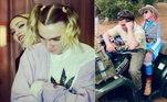Madonna divulgou uma série de fotos raras em suas redes sociais para homenagear o filho, que completa 21 anos. Rocco é fruto do relacionamento da cantora com o cineasta Guy Ritchie