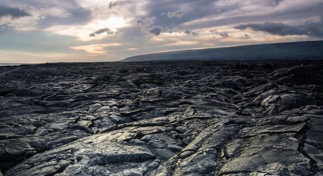 Rocha vulcânica é um terreno difícil para humanos e robôs