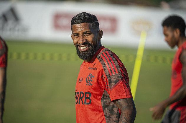Rodinei - Clube: Flamengo - Posição: lateral-direito - Idade: 29 anos - Jogos no Brasileirão 2021: 2 - Situação no clube: concorrência na posição e não conseguiu se firmar.