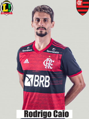 RODRIGO CAIO - 7,0 - É o xerife rubro-negro. É fundamental na defesa do Flamengo que, a cada jogo, evolui e apresenta-se mais compacta sob o comando de Domènec Torrent. Entre todos atletas, é o único que foi utilizado como titular em todas partidas pelo catalão.