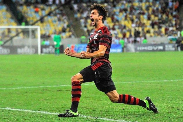 RODRIGO CAIO - CONTRATO ATÉ: 31/12/2023 / Posição: zagueiro / Nascimento: 17/08/1993 (27 anos) / Jogos pelo Flamengo: 74 / Títulos pelo Flamengo: Carioca (2), Brasileiro, Libertadores, Supercopa do Brasil e Recopa Sul-Americana.