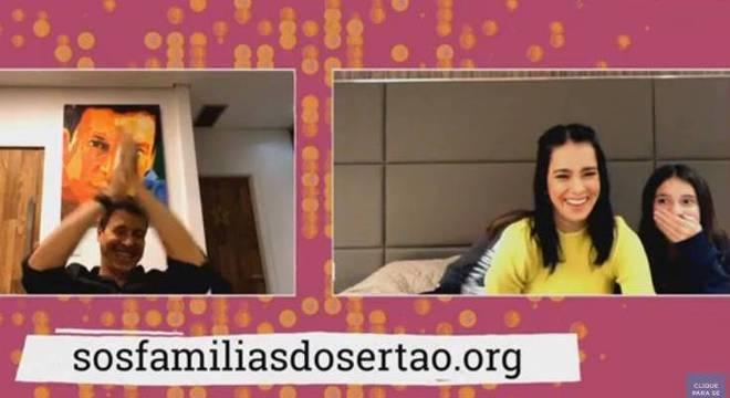 Vera e Rodrigo caíram na risada com as declarações da filhas