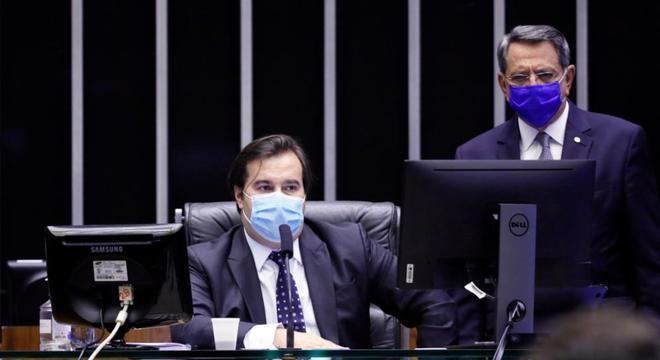 O presidente da Câmara dos Deputados, Rodrigo Maia (DEM - RJ), durante sessão