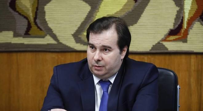 Maia participou de conversa com presidente da Febraban