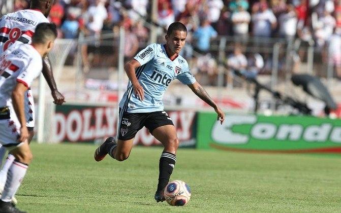 Rodrigo Nestor - o volante de 21 anos tem valor de mercado estimado em 2,5 milhões de euros (cerca de R$ 15,4 milhões). Seu contrato com o São Paulo vai até dezembro de 2024.