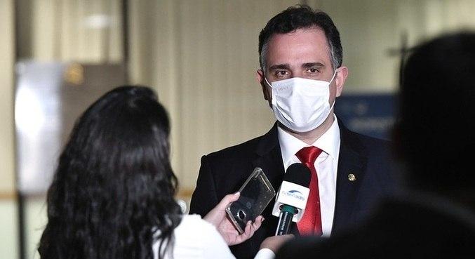 O presidente do Senado, Rodrigo Pacheco (DEM-MG): alinhamento com Bolsonaro