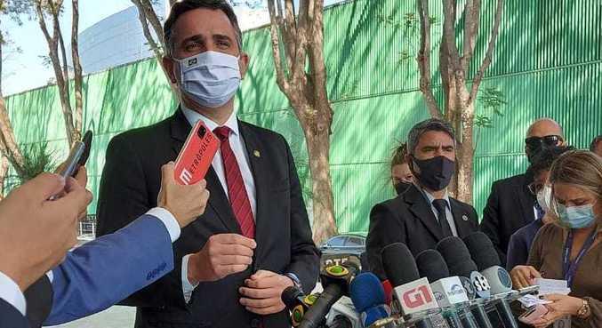 Pacheco após reunião com Fux, no Supremo Tribunal Federal